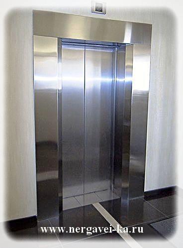 Портал лифта из нержавеющей стали - изготовление в СПб